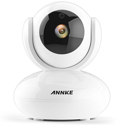 (ANNKE 1080P IP Camera 1920TVL Wireless Pan/Tilt/Zoom Security Camera with 2-Way Audio and Motion Detection Black)