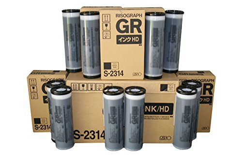 10 Riso HD S-2314 Ink Tubes, for Risograph GR3770 Digital Duplicators ()