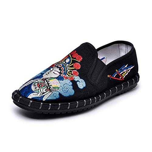 Retro Embroidered Shoes for Women, Huazi2 New Vintage Casual Flat Loafers (Sneaker Adams Spike)