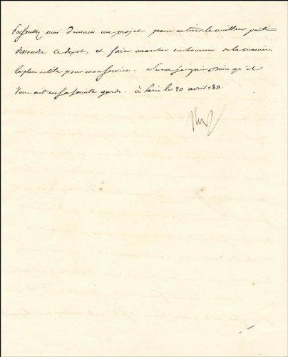 Emperor Napoleon Bonaparte Manuscript Letter Signed 04/20/1811
