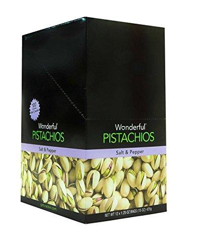 Product Of Wonderful , Salt & Pepper Pistachio - Tube, Count 12 (1.25 oz ) - Nut & Dry Fruit / Grab Varieties & Flavors