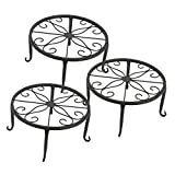 Tosnail 3 Pack Metal Potted Plant Stands Plant