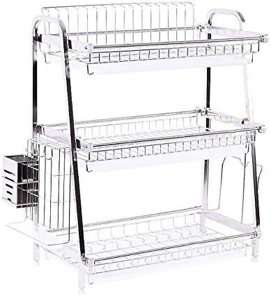 TAO-Z 食器乾燥 キッチンラック、304ステンレス鋼のキッチンラックドレインが皿箸の供給をラック収納ボックス3層を乾燥ラック