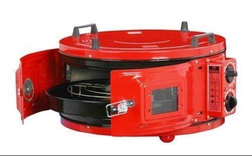 Horno eléctrico TURC redondo rojo, horno marroquí, horno de pizza ...