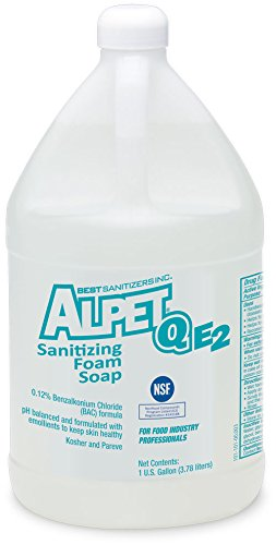 (Best Sanitizers SO10037 Alpet Q E2 Sanitizing Foam Hand Soap, 1 Gallon Bottle (Case of 4))