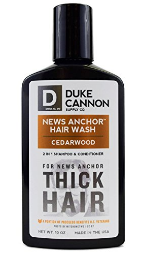 Duke Cannon News Anchor Thick 2-in-1 Hair Wash (Cedar),10 Ounces by Duke Cannon