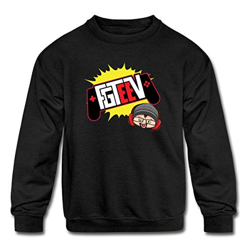 FGTeeV 2019 Logo Kids' Crewneck Sweatshirt, M, - Merch Kids Toys For Fgteev