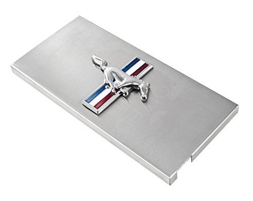 2005-2009 Mustang Brushed Stainless Fuse Box Cover - Running Horse & (Dress Up Fuse Box Cover)