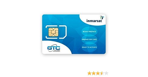 Inmarsat BGAN SIM de prepago (Sin tiempo de uso incluido): Amazon.es: Electrónica