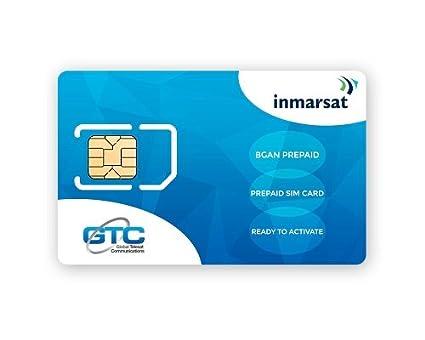 Tarjeta SIM de prepago Inmarsat BGAN (Sin tiempo de uso incluido)