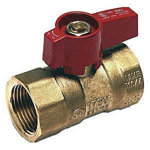 EZ-Fluid 1//2 FIP Heavy Duty Brass Gas Shut Off Ball Valve for Natural Gas Propane Pack 10