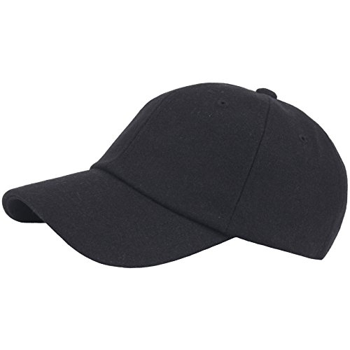 RaOn B348 Unisex Winter Wool Warm Empty Design Club Ball Cap Baseball Hat Truckers (Black) ()