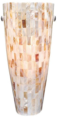 Vaxcel WS53252SN Milano Wall Sconce with Mosaic Shell Glass, 5-3/4