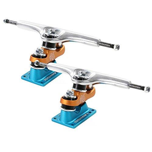 Gullwing Sidewinder II 185mm Hi Silver / Orange / Blue Longboard Trucks - 10 Axle (Set of 2)