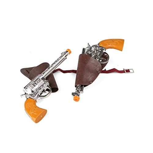 2 pistolets en plastique avec étuis adulte
