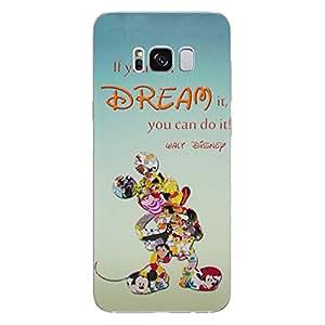 iCHOOSE Cita de Disney Funda/Cubierta del Teléfono para Samsung Galaxy S8 (G950) con Protector de Pantalla/Silicona Suave de Gel/TPU/iCHOOSE/Sueño