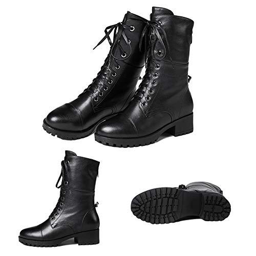 Lace Caviglia Calzari Nero Signore Stivali Womens Bassa Martin Tacco Militare Up Piatti Dell'esercito Della Addensare Combattimento Black xqwYdZHH