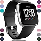 Wepro Bands Compatible with Fitbit Versa SmartWatch for Women Men, Multi Colors