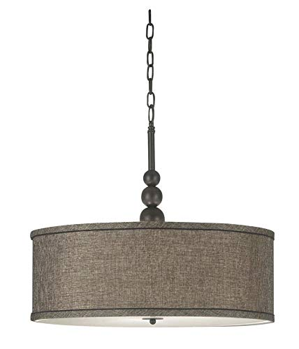 Kenroy Home 91640ORB  Margot 3-Light Pendant, Blackened Oil Rubbed Bronze