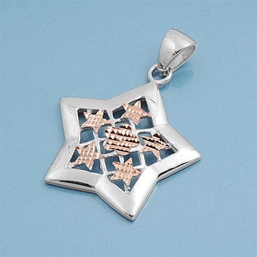 Star Cute Gift for Women Glitzs Jewels 925 Sterling Silver Pendant for Necklace