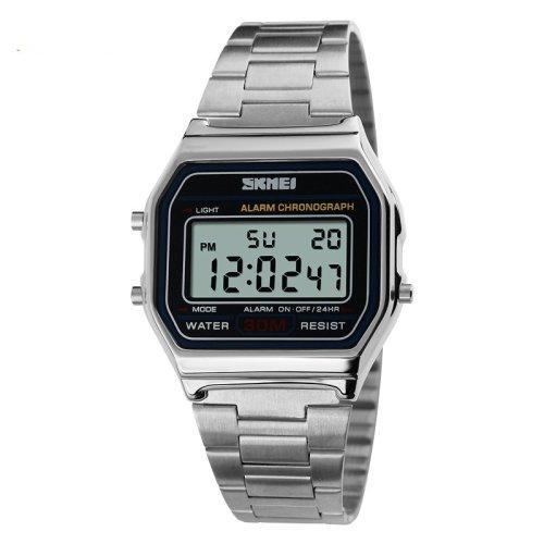 Reloj Deportivo Reloj de Pulsera Reloj digital Digital LCD Calendario Cronógrafo Resistente al Agua alarma Reloj