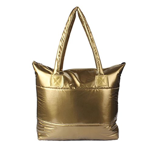 Handbag Feather Down Girl Bale Shoulder Women Space Cotton Gold Totes Sponge Bag Paymenow Feather Bag wAqIRPzvq