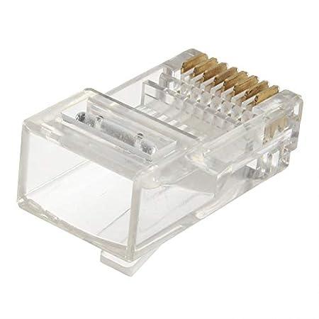 New RJ45 CAT5 Crystal Modular Plug LAN Network Connector Transparent C5