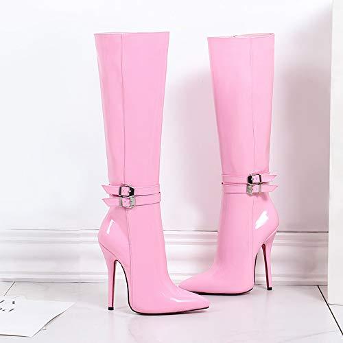 High Heels 13 Zentimeter Zentimeter Zentimeter gut mit Lack Elastische dreikäsehoch u - Stiefel Tube Tanzen Stiefel. dbf6c8