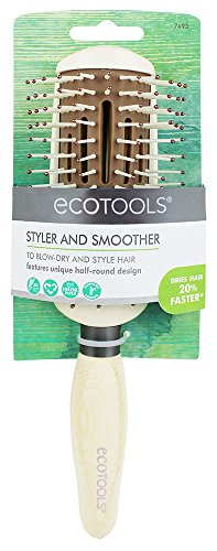 EcoTools Cruelty Free and Eco Friendly Styler and Smoother Agility Hairbrush, Made with Recycled and Sustainable Materials (Hair Brush Fast Dry)