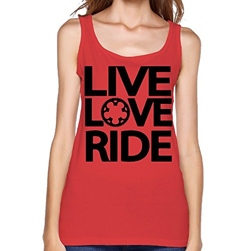 Women's Live Love Ride Fashion Sleeveless Vest Novelty Tank Tops Graphic Tee -