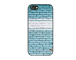 Blue wall Durable Protective Hard Shell case for iphone 5 & 5S case diy cover Design Protector by JAYANAN