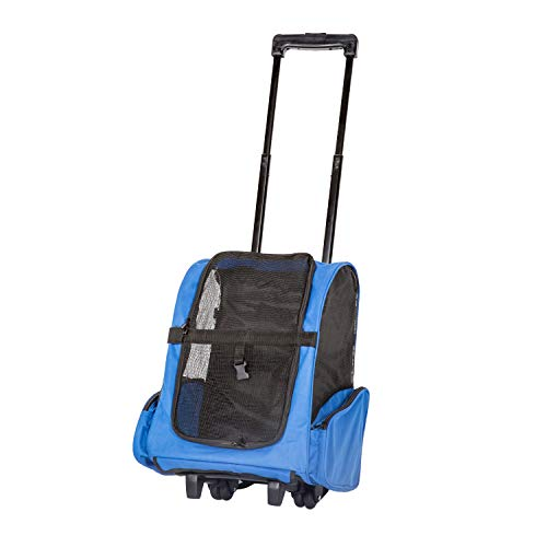 Tote Carrier Pet Dog (Peach Tree Pet Travel Rolling Backpack Rolling Carrier for Dogs Pet Carrier with Wheels Rolling Pet Travel Tote Airline Approved)