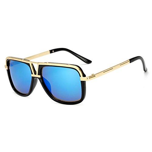 de Las de KP18002 Hombres KP18002 TL Mujeres los C1 Sunglasses Cuadrados Mujer de de Atrás Gafas Macho Sol Mach Mujeres Gran Hombres Negro Sol Gafas Sol de Gafas blue C4 Tamaño para uno ppEBUwWq