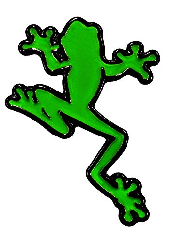 - Climbing Frog Amphibian Biology Green and Black - Lapel or Fabric Pin