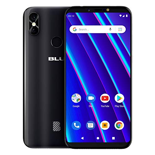 BLU Vivo Go v2.0 - Unlocked Smartphone 16GB+1GB RAM -Black (Blu Cell Phone Unlocked Quad Core)