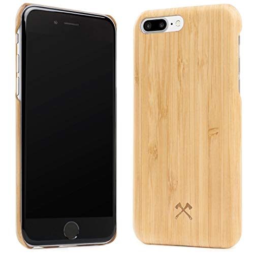 Woodcessories - EcoCase Slim Series - iPhone 7 Plus / 8 Plus Case, Cover, Protection Made of Real, FSC Certified Wood Premium Design - Wood Fsc