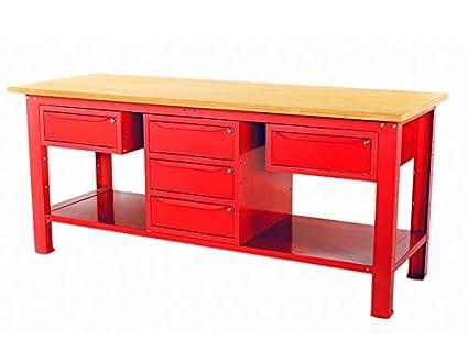 Banco Di Lavoro Con Cassetti : Banco da lavoro mt con piano in legno arm cassetti