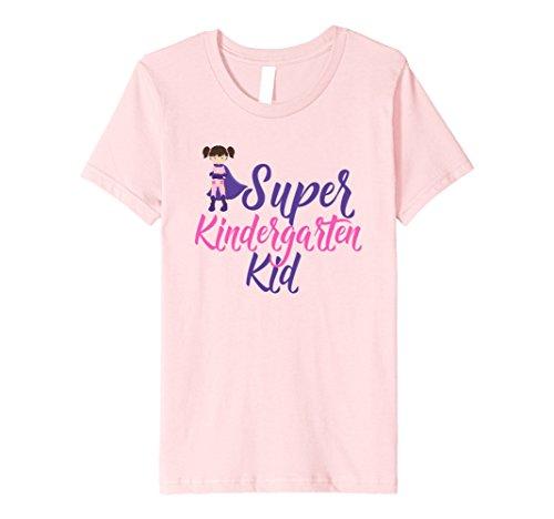 unisex-child Superhero Kindergarten Girl T-Shirt 10 Pink