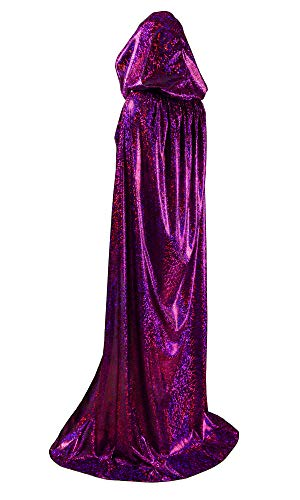 Unisex Full Length Hooded Cape Halloween Christmas Adult Cloak (Small, -