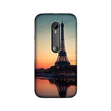 100% authentic bab08 6b9b4 theStyleO Eiffel Tower Paris Back Cover for Moto G3: Amazon.in ...