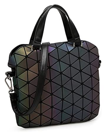 3d86e14b4e6206 HotOne Shard Lattice Design Geometric Bag PU Leather Unique Purses and  Handbags