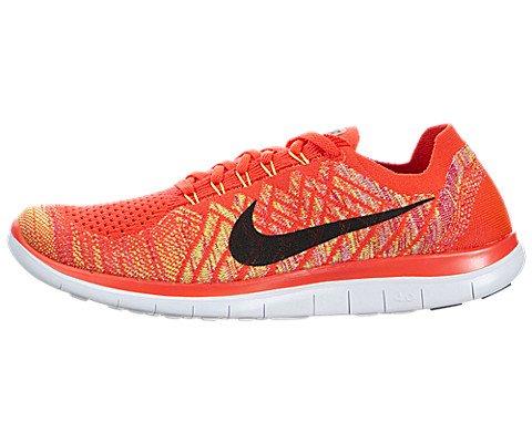 Galleon - Nike Men's Free 4.0 Flyknit Grey Running Shoe,Bright  Crimson/Black/Ht Lv/Vlt,10 D(M) US
