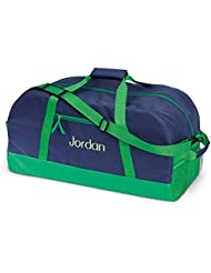 Navy and Green Kids Personalized Duffel Bags by Lillian Vernon