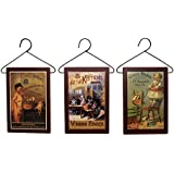 Vintage Laundry Advertising Signs ~ Set of 3