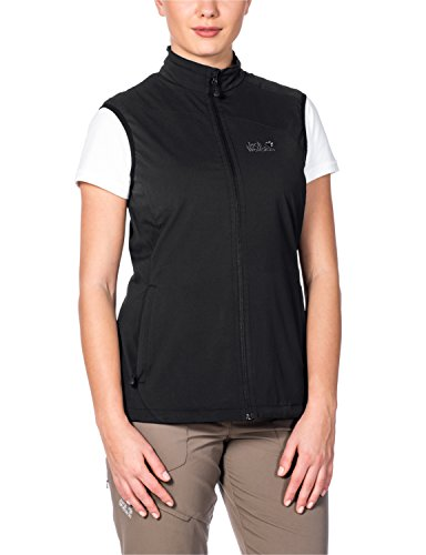 Jack Wolfskin Damen Softshellweste Activate Vest, Black, XL, 1302321-6000005