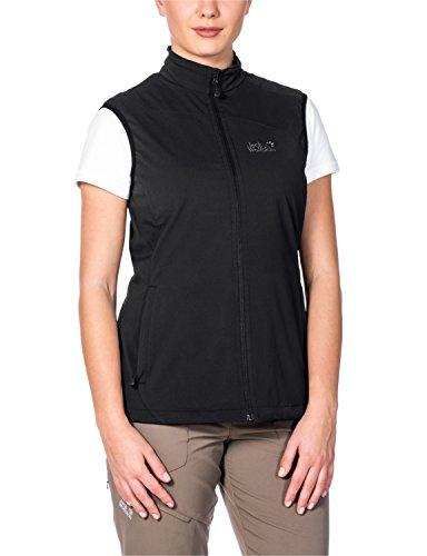 Jack Wolfskin Damen Softshellweste Activate Vest, Black, L, 1302321-6000004