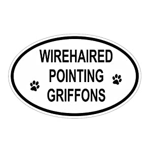 Slap-Art Wirehaired Pointing Griffons Oval Vinyl Decal Sticker 2