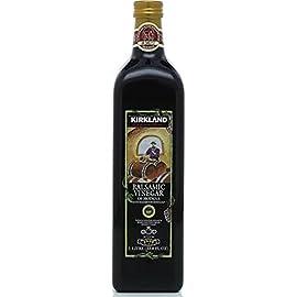 Kirkland Signature Aged Balsamic Vinegar 1-liter (33.8 Fl Oz.) 1 Kirkland Signature Aged Balsamic Vinegar - 1-Liter Size. 1 liter (33.8 fl oz.) Aged in oak casks for full-bodied flavor.