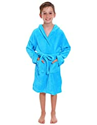 Simplicity Children's Hooded Robe w/ Animal Print Bath Accessory