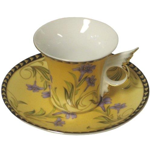 Porcelain Espresso Demitasse 12 Piece Coffee Cup & Saucer -